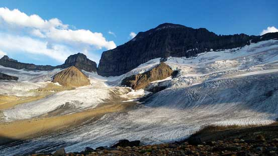 Mt. Saskatchewan and its north glacier