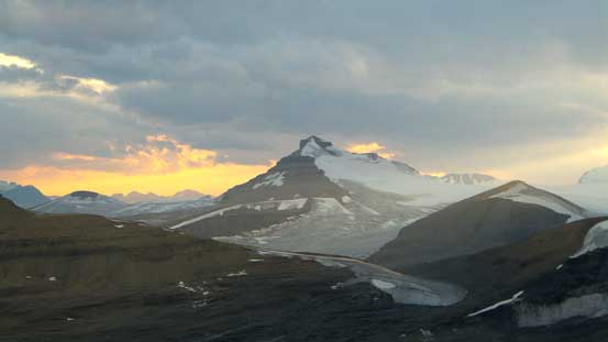Castleguard Mountain in evening light