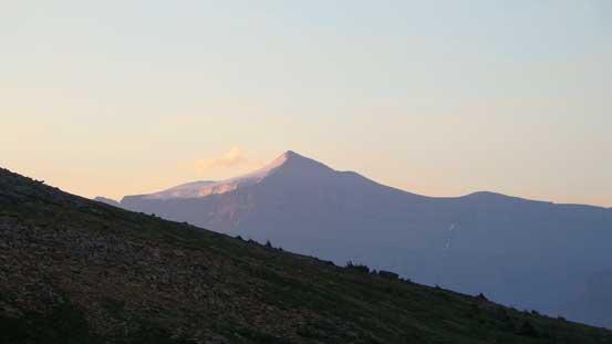 Mt. Amery on alpenglow