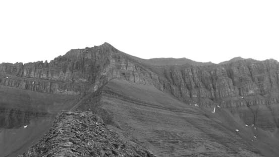 Looking ahead to the SW Ridge route