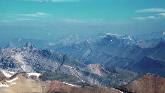 Nigel Peak on right; Hilda Peak on lower left