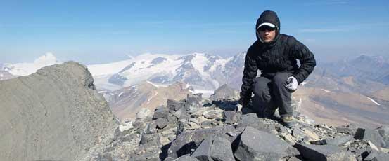 Me on the summit of Mt. Saskatchewan