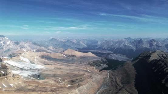 Impressive views towards the front ranges