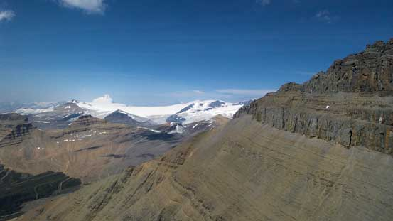 One last look at the immense Columbia Icefield