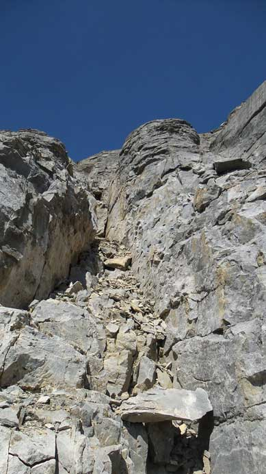 Typical terrain on the first cliff band