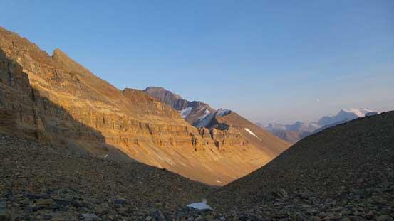The main summit of Mt. Saskatchewan from NT/TAV col