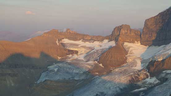 Cleopatra's Needle and the glacier north of Mt. Saskatchewan