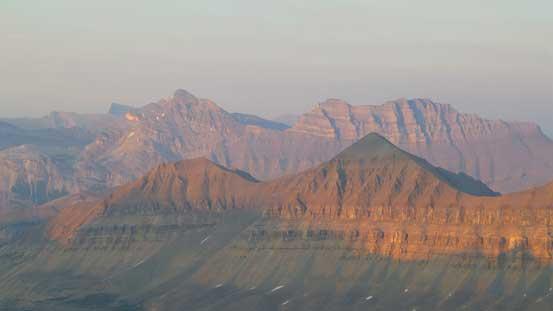 "Cirrus Mountain behind ""Spine Peak"""