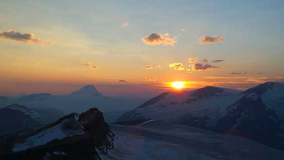 Another shot of sunset over Columbia Icefield