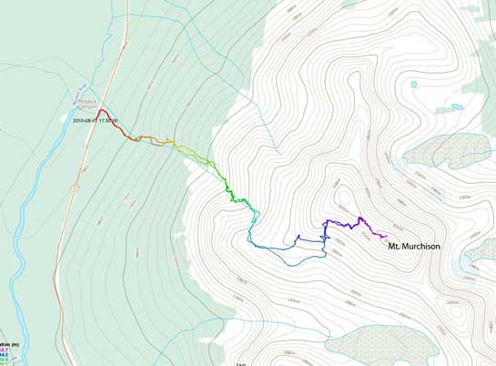 Mt. Murchison scramble route