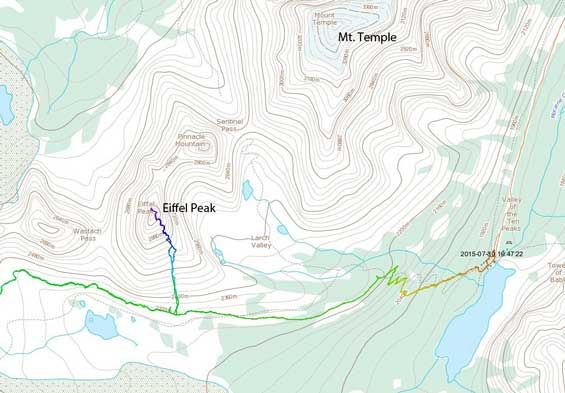 Eiffel Peak scramble route via south gully