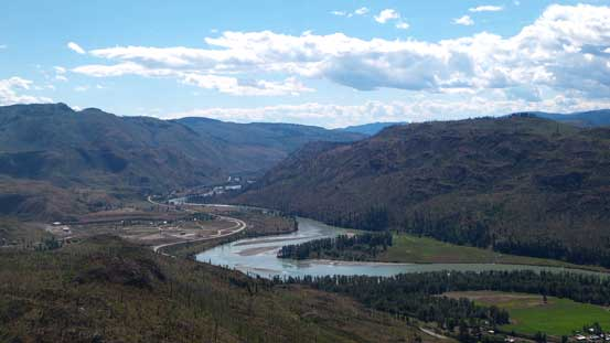 Looking down south along the N. Thompson River