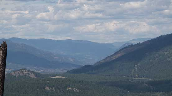 Looking far North along the North Thompson Corridor