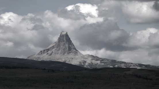 Chief Mountain seen from the highway