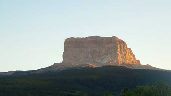 Evening glow on Chief Mountain