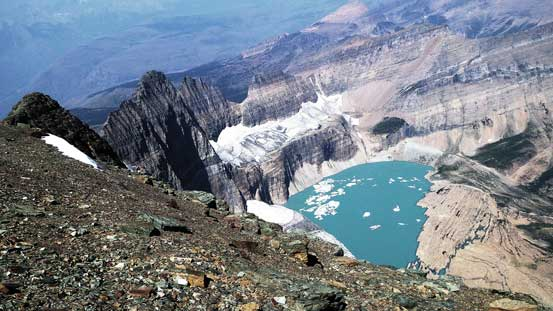 Upper Grinnell Lake and the Grinnell Glacier