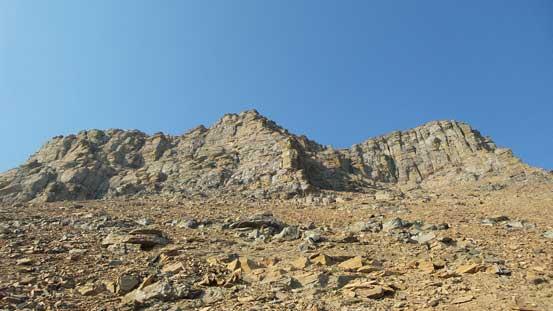 Approaching the upper cliffs