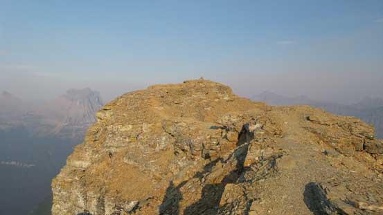 On the final summit ridge traverse now