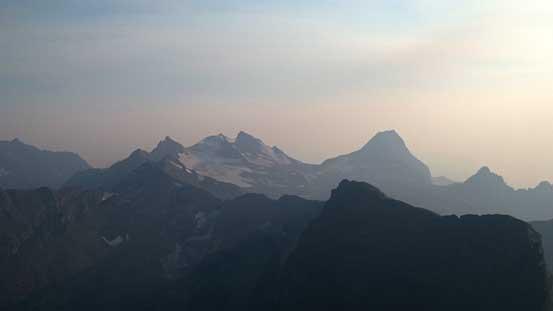 Peaks by Sperry Glacier - Edwards Mountain and Little Matterhorn