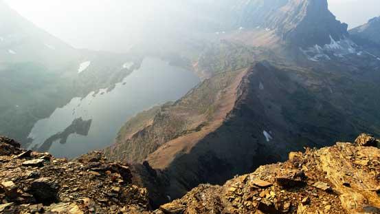And finally, looking down towards Hidden Lake