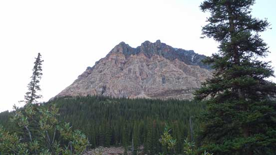 A glimpse of part of Mt. Fitzwilliam from Rockingham Creek