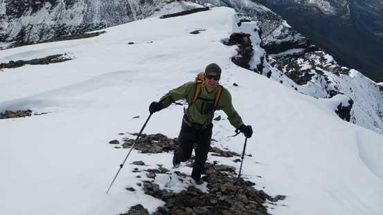 Maury approaching the summit