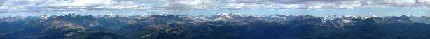 A full panorama of Victoria Cross Range. Click to view large size.