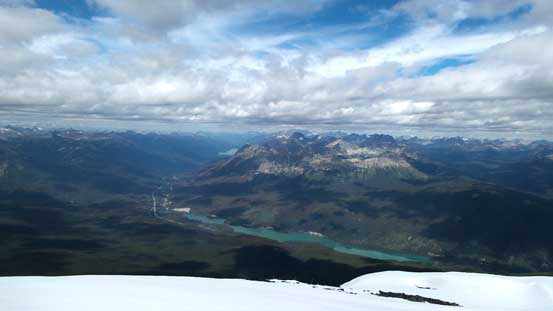 Yellowhead Lake and Yellowhead Mountain