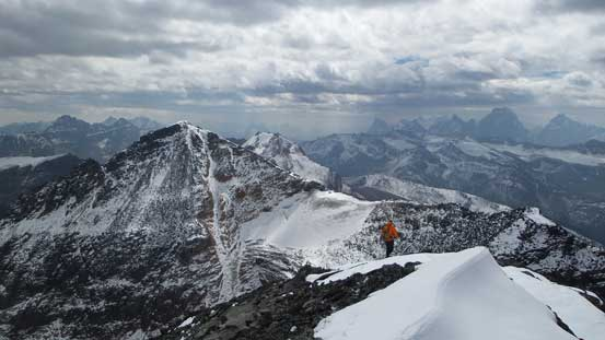 Continuing down with Bucephalus Peak in front