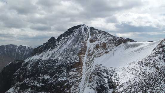 Bucephalus Peak from partway down Fitzwilliam