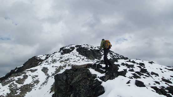 Maury ascending the typical terrain