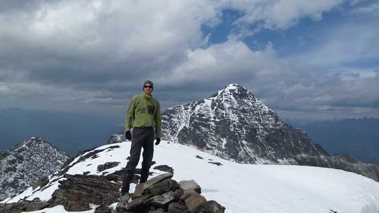 Maury on the summit of Bucephalus Peak