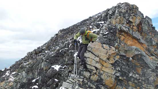 Descending the S. Ridge of Bucephalus Peak
