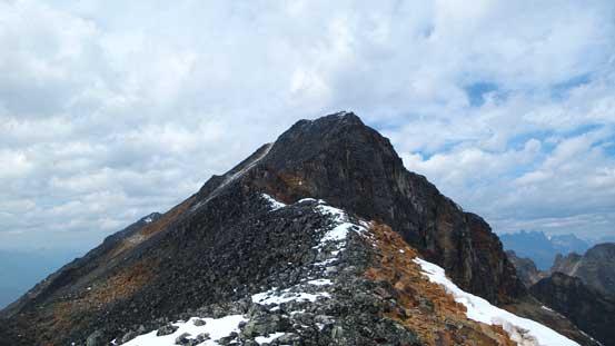 Looking back at Bucephalus Peak