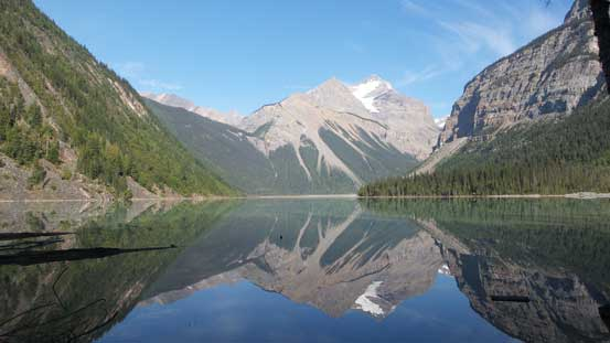 Whitehorn Mountain and its reflection in Kinney Lake