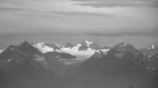 An icefield in the Cariboo Mountains