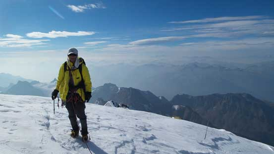 Me on the summit of Resplendent Mountain, my 36th 11,000er!