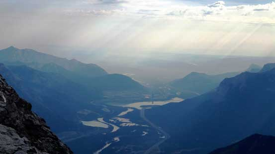 The exit of Bow Valley