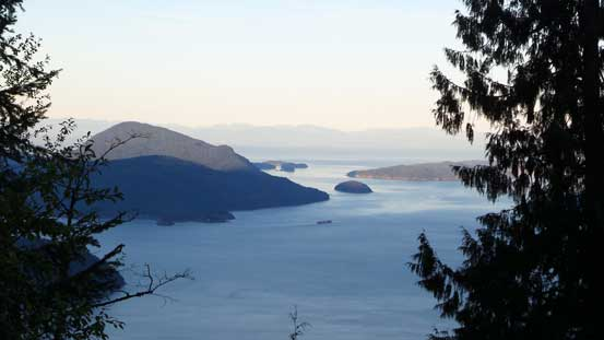 A glimpse of Howe Sound from the approach