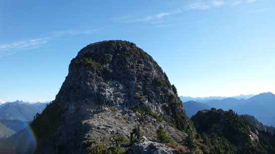 The summit buttress of West Lion