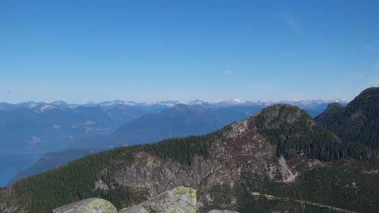 Looking over the summit of Mt. Harvey