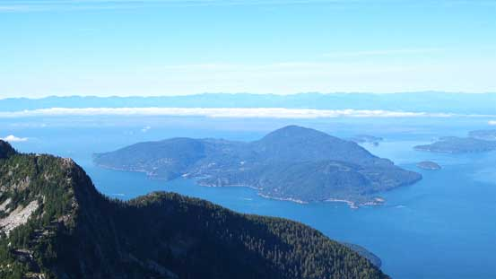 Bowen Island - its high point is Mt. Gardner