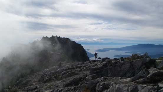 Hikers on Howe Sound Crest Trail