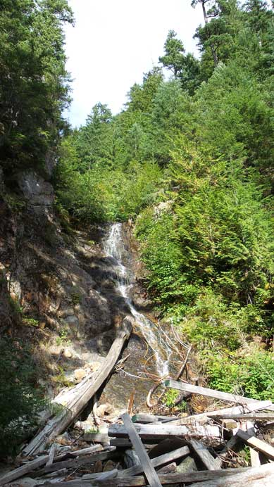 A waterfall by Alberta Creek