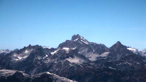 Mt. Tantalus is one of the hardest mountaineering objectives nearby