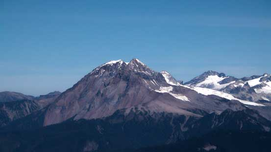 Mt. Garibaldi massive. To its right is Castle Towers Mountain