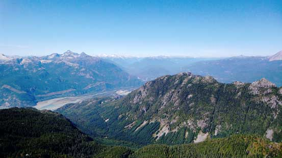 Great views of Al's Habrich Ridge and the Squamish area