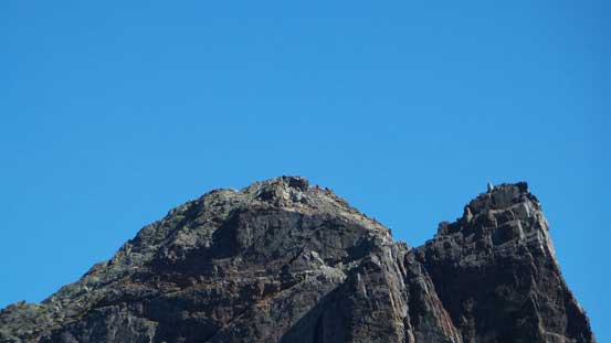 Could see climbers descending from the summit of Sky Pilot