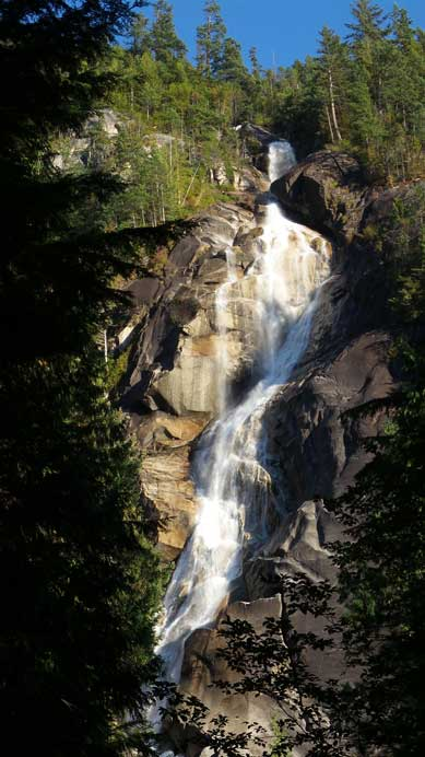 Shannon Falls at the end of this day