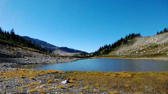 This lake at Gentian Pass would be another gorgeous bivy spot...